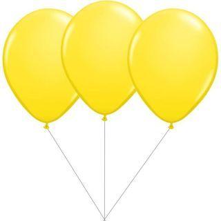 Buchet din 3 baloane latex galbene cu heliu, Gemar BB.G90.YELLOW
