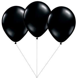 Buchet din 3 baloane latex negre cu heliu, Gemar BB.G90.BLACK