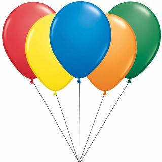 Buchet din 5 baloane latex asortate 26cm cu heliu, Radar