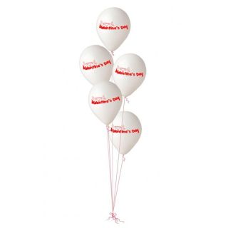 Buchet din baloane latex asortate Valentine's Day, Radar