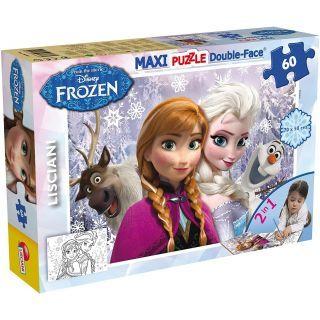 Puzzle de colorat maxi - Anna si Elsa (60 piese)