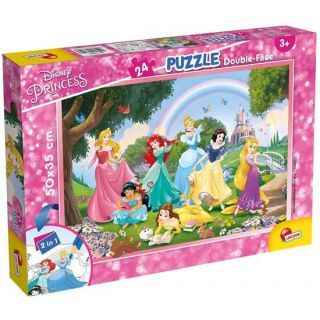 Puzzle de colorat - Printese in gradina (24 piese)