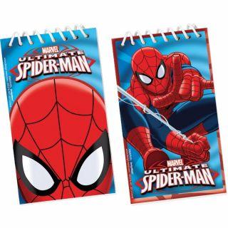 Carnetele Ultimate Spiderman - 5x10cm, Amscan, Set 12 buc