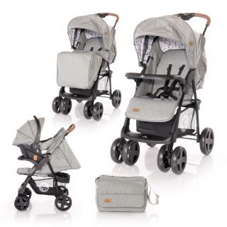 Carucior Set  Ines, cos auto inclus, Dark Grey