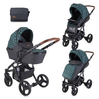 Carucior Rimini Set, 2in1, Black Leaves