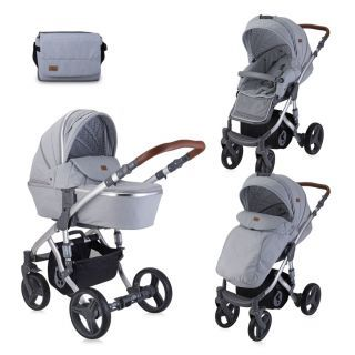 Carucior Rimini Set, 2in1, Grey & Black Dots