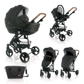 Carucior Set 3 in 1  Crysta, Black