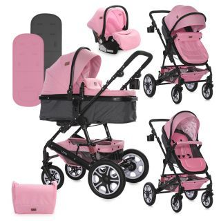 Carucior Lora Set, Pink