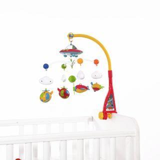 Carusel muzical pentru pat, cu proiector, lumini si sunete, Proiector Sky, multicolor