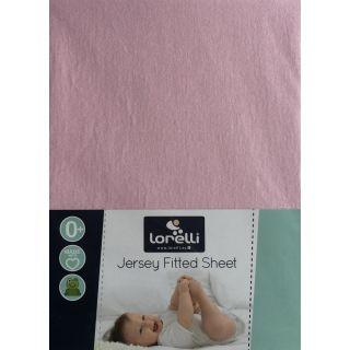 Cearceaf Jersey 60/120 cm, Pink