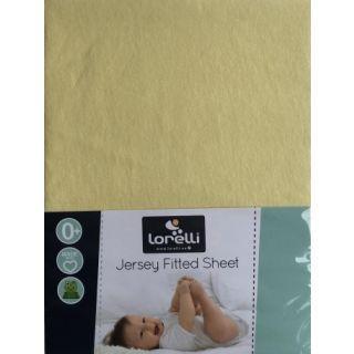 Cearceaf Jersey 60/120 cm, Yellow