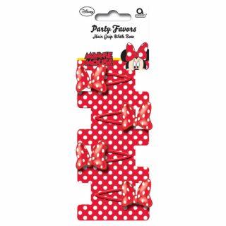 Clame de par cu Minnie Mouse, Amscan 995242, Set 4 buc