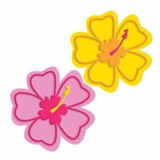 Coaster / Suport pahare, Model cu flori, Amscan 409688, Set 6 buc
