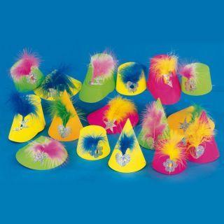 Coif de petrecere neon, diverse modele, Amscan 3560, 1 buc