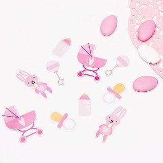 Confeti baby girl pentru botez- 14 gr , Radar 51037