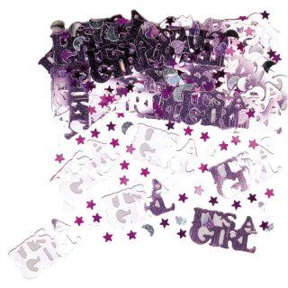 """Confeti """"It's a girl"""" pentru party si evenimente, Amscan 36033"""