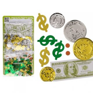 Confeti multicolore in forma bani - 3 sortimente/set, ca. 28 g, Radar 181043