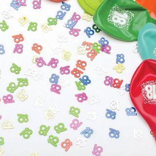 Confeti multicolore pentru majorat - 14 gr , Radar 51016