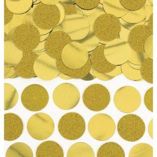 Confeti rotunde aurii cu sclipici si folie pentru party si evenimente - 63g, Amscan 360220-19