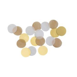 Confeti rotunde aurii pentru party si evenimente- 15g, Amscan 9904551