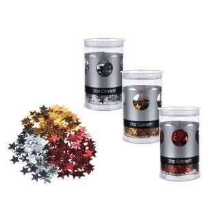 Confetti forma stelute - ca. 50 g, Radar 400090, diverse culori