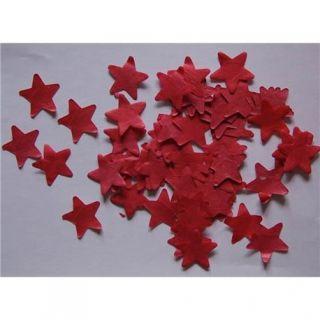Confetti decorative rosii stelute hartie, SPC.P.RS