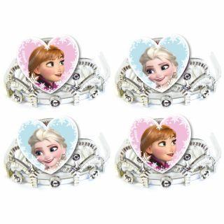 Coronite de printese tip pieptene cu Frozen, Amscan , Set 4 buc