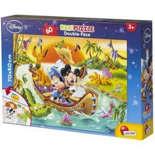 Puzzle de colorat maxi - Mickey Mouse in jungla (60 piese)