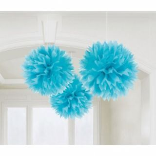 Decoratiuni pompoane bleu de agatat - 40.6 cm, Amscan