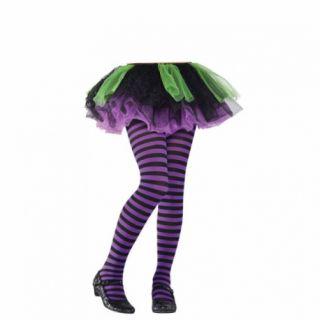 Dres/ ciorapi copii mov cu dungi negre - marime universala, Amscan 844754.55, 1 buc