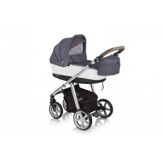 Espiro Next Manhattan carucior multifunctional 2:1 cu roti din spuma EVA - 213 Pacific Blue 2020