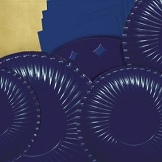 Farfurii bleumarin 23 cm pentru petreceri, Radar , Set 10 buc