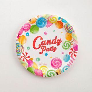 Farfurii bomboane  18 cm pentru candy bar, Radar