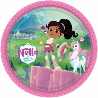 Farfurii carton Nella The Princess pentru petrecere copii - 23 cm, Radar