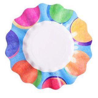 Farfurii carton pentru petrecere multicolor - 21 cm, Radar