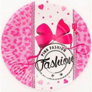 Farfurii carton pentru petrecere Pink Fashion - 18 cm, Radar