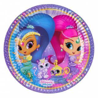 Farfurii carton Shimmer and Shine pentru petrecere copii - 23 cm, Amscan