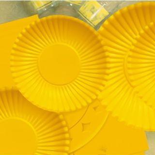 Farfurii galbene 23 cm pentru petreceri, Radar , Set 10 buc