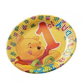 Farfurii petrecere 23 cm 1st Birthday- Winnie The Pooh, Radar