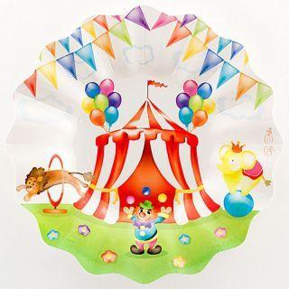 Farfurii petrecere 27 cm Circus Party, Radar