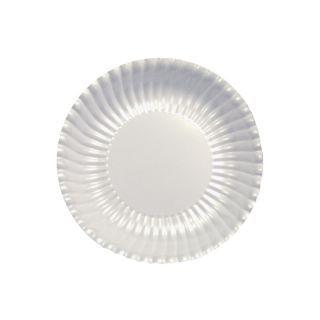 Farfurii petrecere carton alb perlat - 23 cm, Radar , set 10 bucati