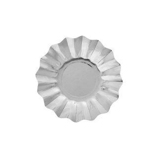Farfurii petrecere carton argintii- 21 cm, Radar