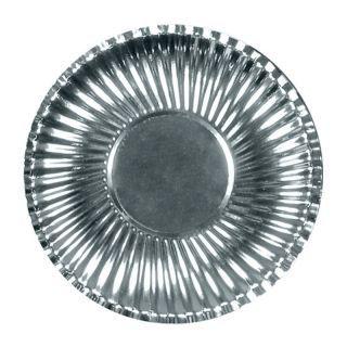 Farfurii petrecere carton argintiu 23 cm, Radar , Set 10 bucati