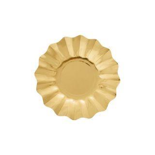 Farfurii petrecere carton aurii - 21 cm, Radar