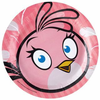 Farfurii petrecere copii 18 cm Angry Birds, Amscan , Set 8 buc
