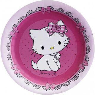 Farfurii petrecere copii 18 cm Charmmy Kitty, Amscan , Set 8 buc