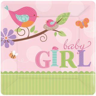 Farfurii petrecere copii 18 cm Tweet Baby Girl, Amscan , Set 8 buc