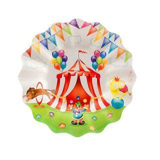 Farfurii petrecere copii 21 cm Circus Party, Radar