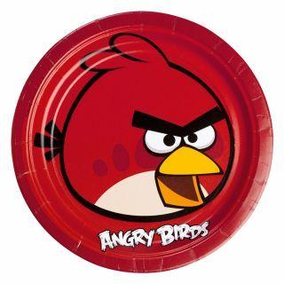 Farfurii petrecere copii 23 cm Angry Birds, Amscan , Set 8 buc