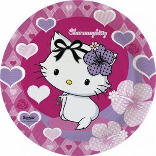 Farfurii petrecere copii 23 cm Charmmy Kitty, Amscan , Set 8 buc